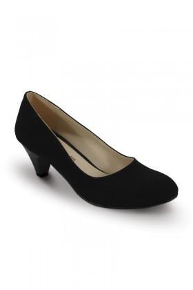 Obims Siyah SNG-001 Bayan Yarım Topuklu Ayakkabı