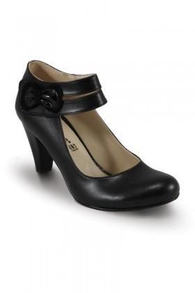 Obims Siyah SNG-004 Bayan Topuklu Tokalı Ayakkabı