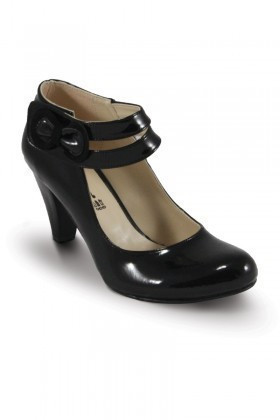 Obims Siyah SNG-005 Bayan Topuklu Tokalı Ayakkabı
