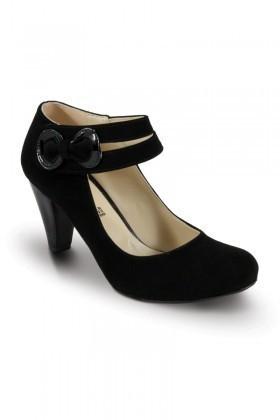 Obims Siyah SNG-006 Bayan Topuklu Tokalı Ayakkabı