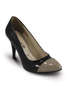 Obims Siyah-Kum SNG-015 Bayan Topuklu Ayakkabı
