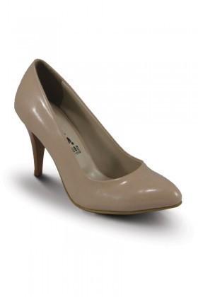 Obims Krem SNG-027 Bayan Topuklu Ayakkabı