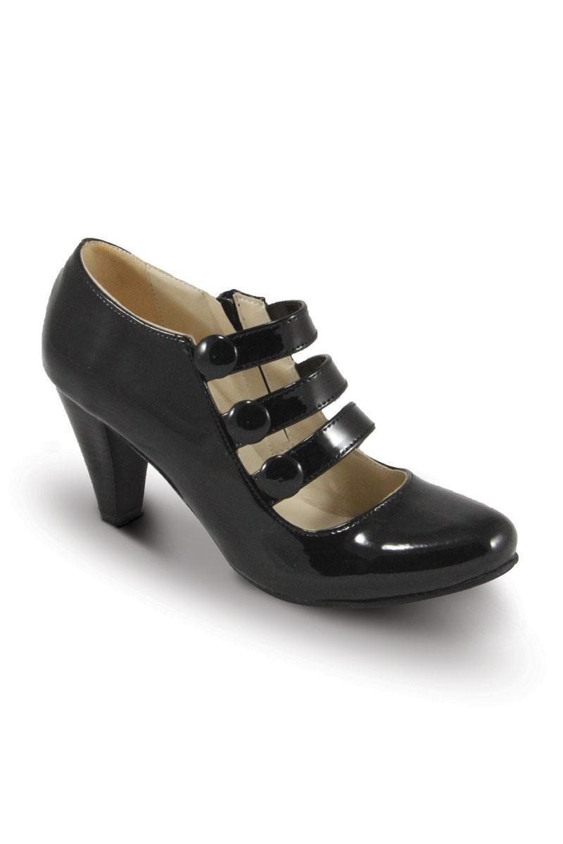 Obims Siyah SNG-032 Bayan Topuklu Düğmeli Ayakkabı