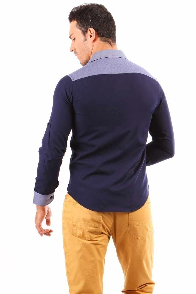 Jeans Collic Siyah J-006 Kot Garnili Erkek Gömlek