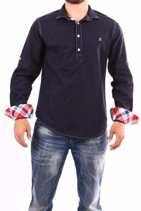 Jeans Collic Siyah J-010 Ekoseli Erkek Gömlek