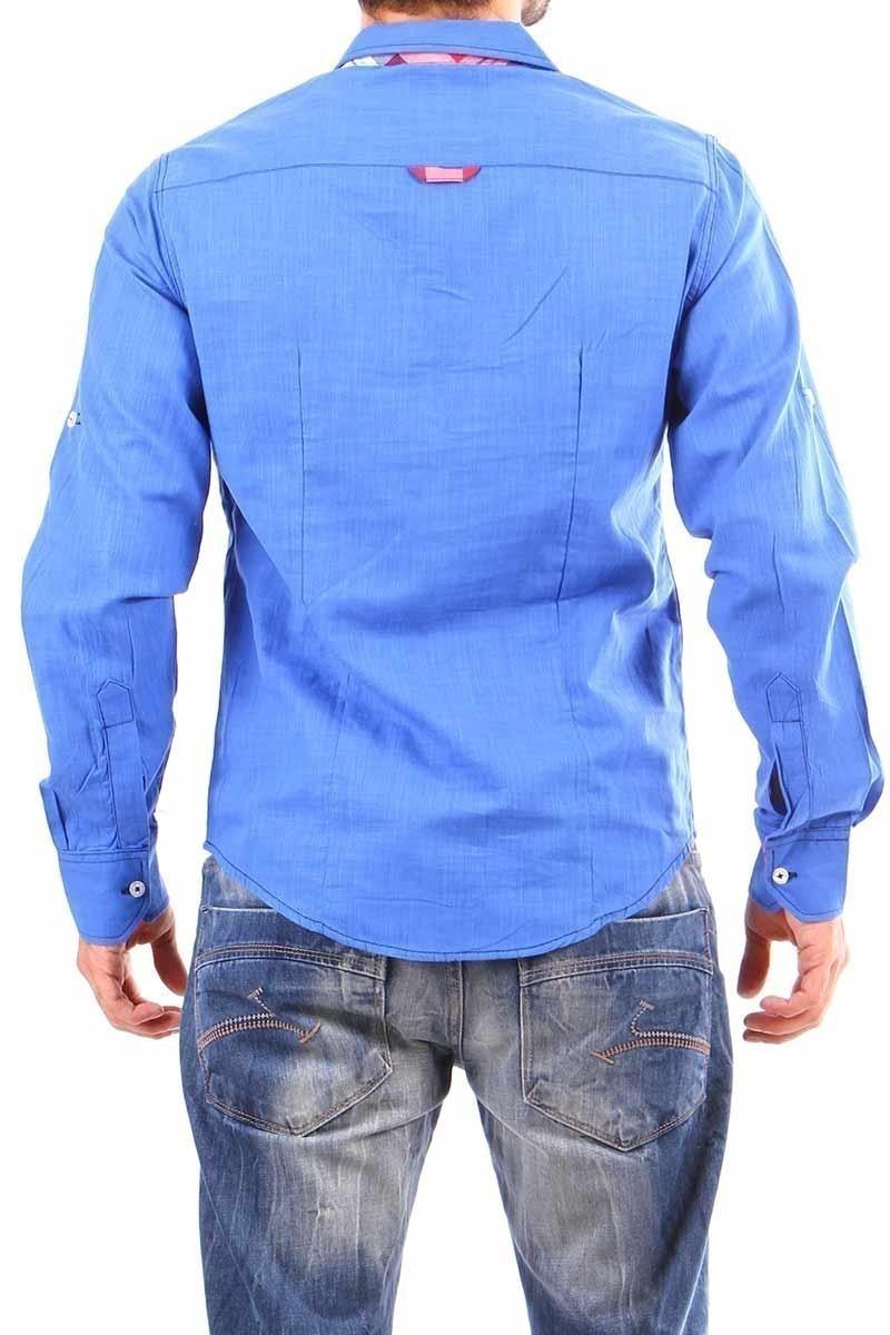 Jeans Collic Saks J-011 Ekoseli Erkek Gömlek