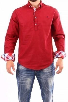 Jeans Collic Bordo J-012 Ekoseli Erkek Gömlek
