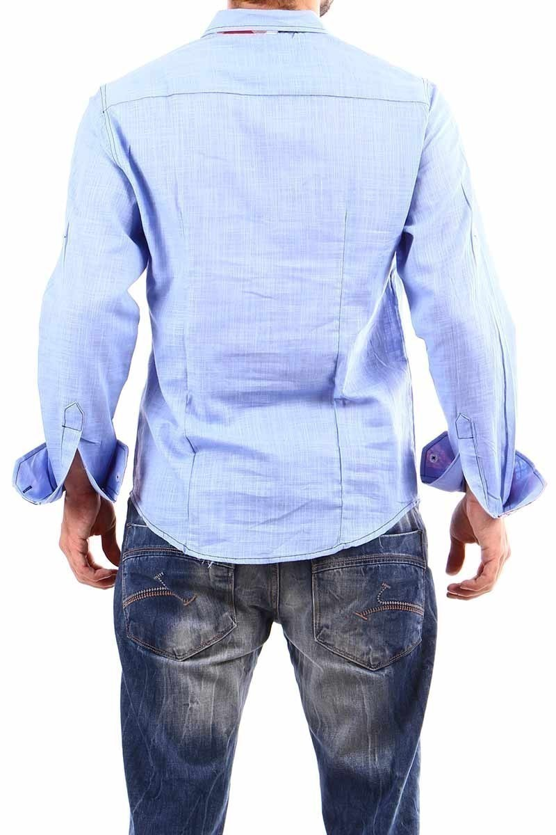 Jeans Collic Mavi J-013 Ekoseli Erkek Gömlek