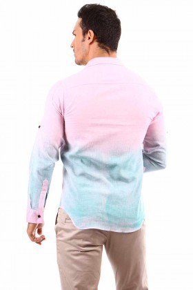 Jeans Collic Pembe J-016 Erkek Gömlek