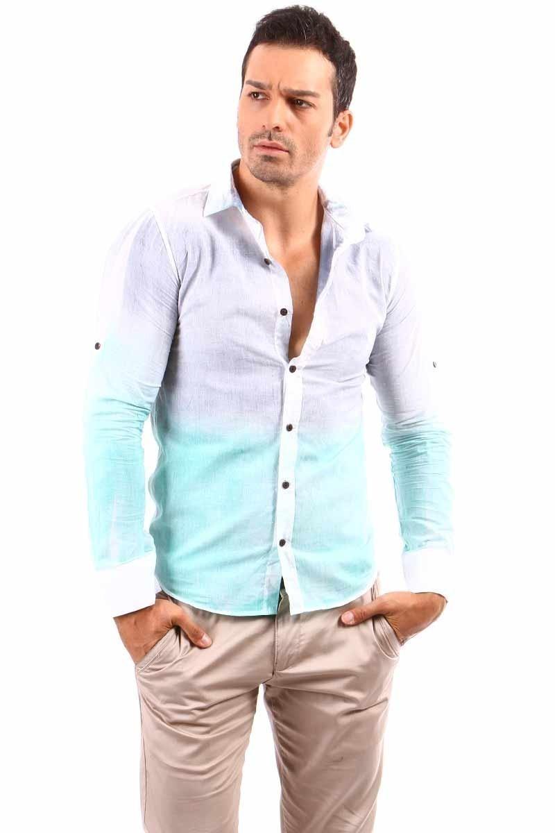 Jeans Collic Gri J-026 Erkek Gömlek