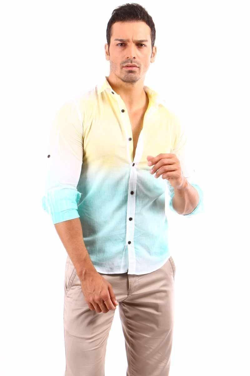 Jeans Collic Sarı J-028 Erkek Gömlek