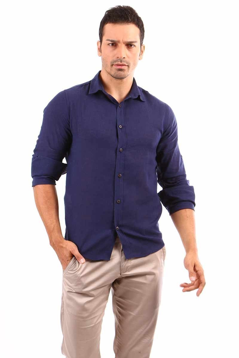 Jeans Collic Pudra J-018 Erkek Gömlek