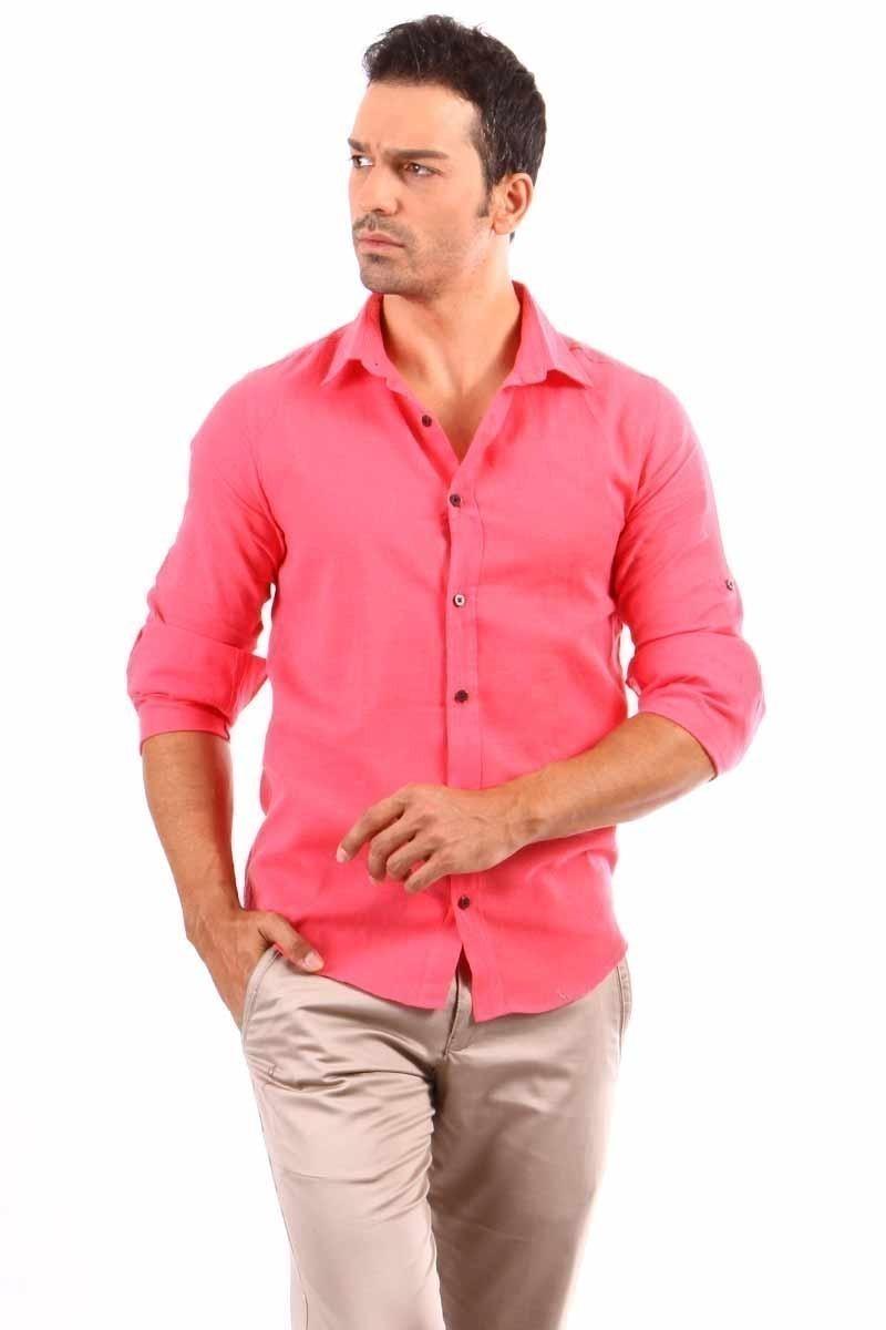 Jeans Collic Pembe J-019 Erkek Gömlek