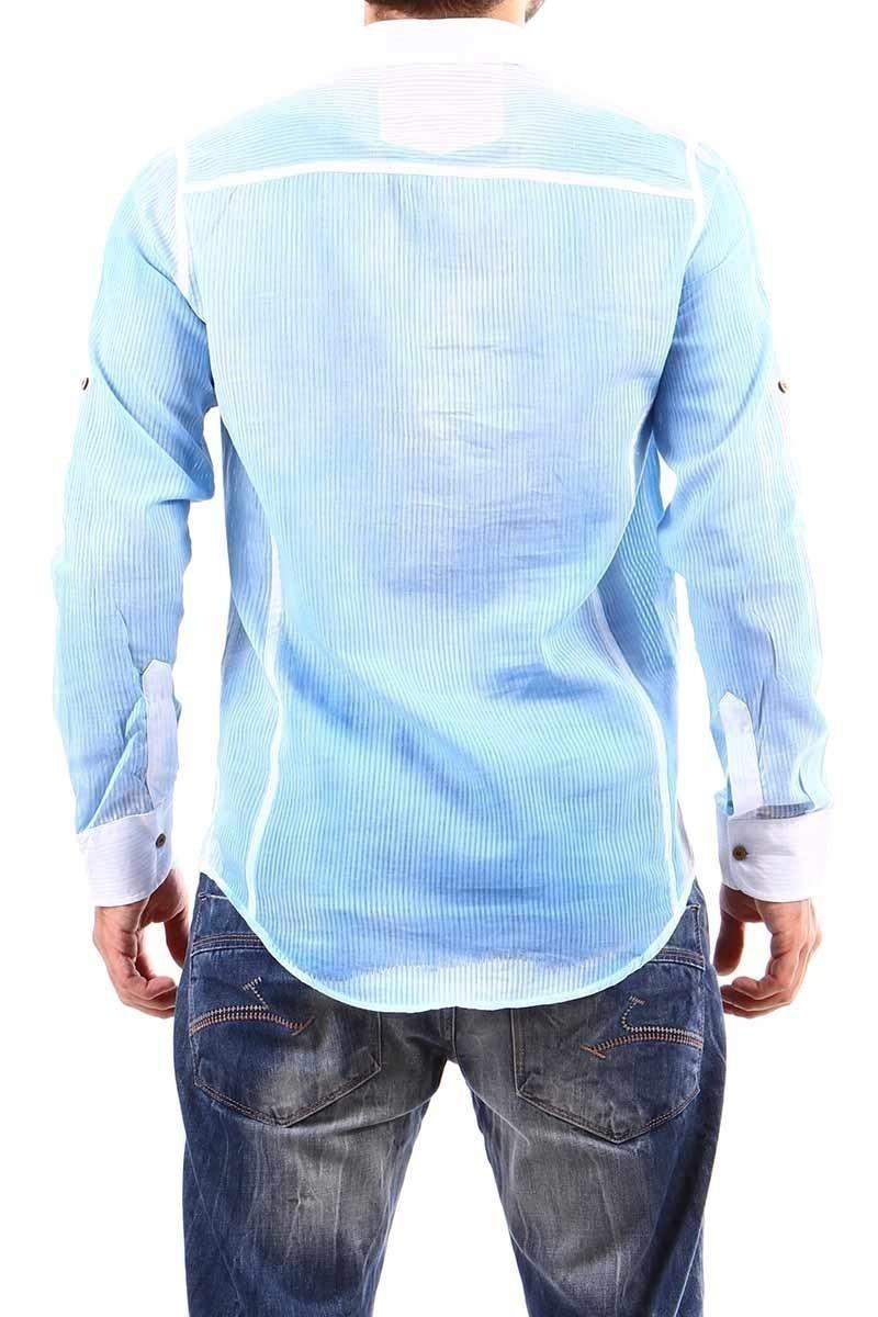 Jeans Collic Mavi J-021 Hakim Yaka Erkek Gömlek
