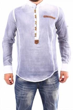 Jeans Collic Gri J-022 Hakim Yaka Erkek Gömlek