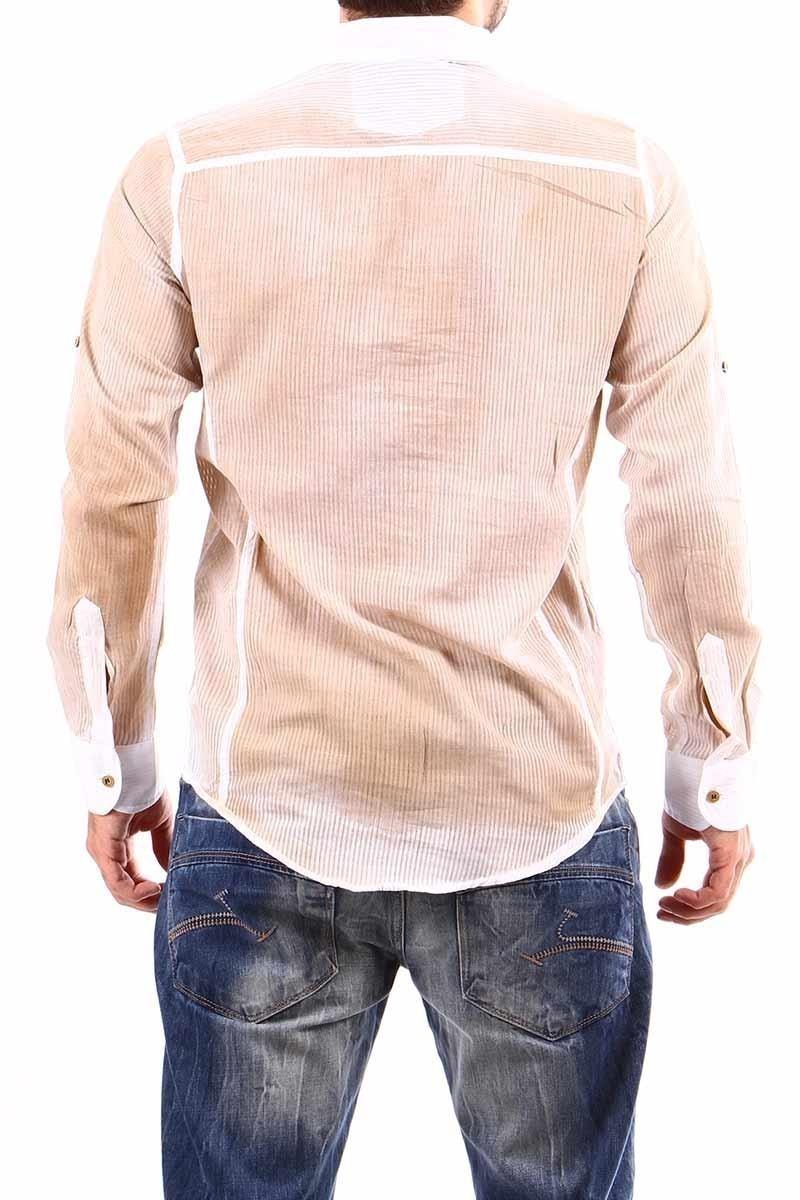 Jeans Collic Kahverengi J-023 Hakim Yaka Erkek Gömlek
