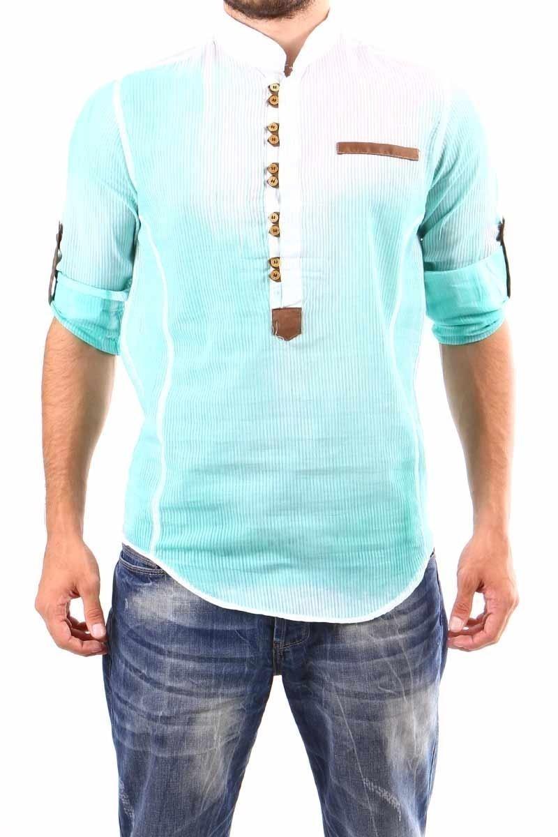 Jeans Collic Yeşil J-025 Hakim Yaka Erkek Gömlek