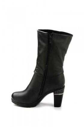 Danpe Siyah DNP-60052-C7 Topuklu Bayan Çizme