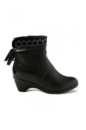 Danpe Siyah DNP-60003-C2 Topuklu Bayan Bot