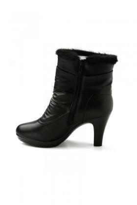 Danpe Siyah DNP-12855 Topuklu Bayan Bot
