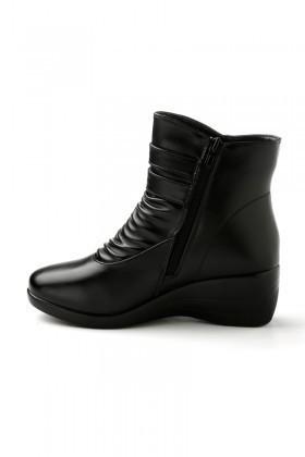 Danpe Siyah DNP-60113-3 Dolgu Topuk Bayan Bot