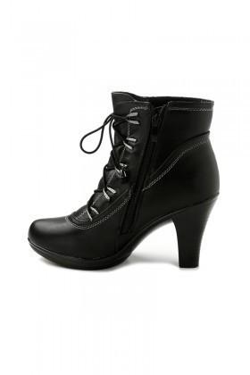 Danpe Siyah DNP-F12207 Topuklu Bayan Bot