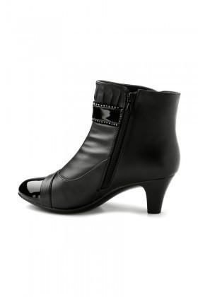 Danpe Siyah DNP-1969 Topuklu Bayan Bot