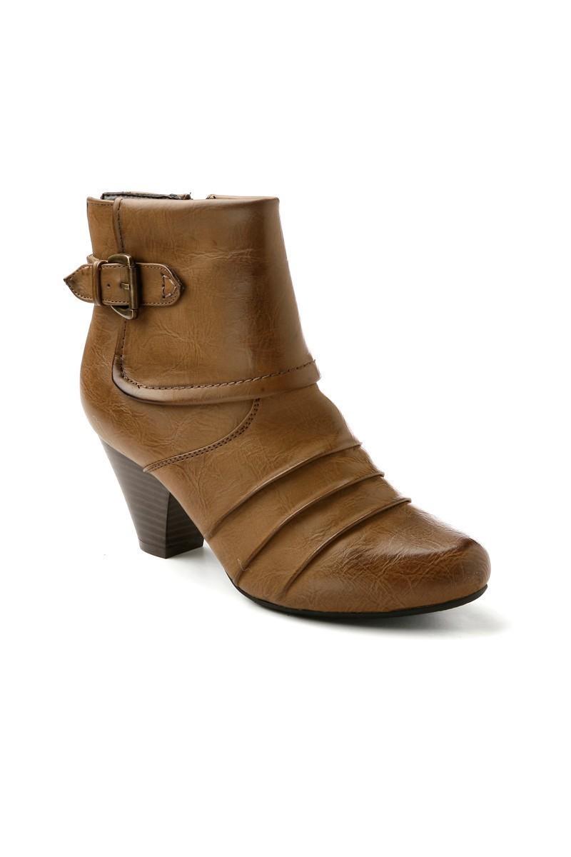 Danpe Kahverengi DNP-05 Topuklu Bayan Bot