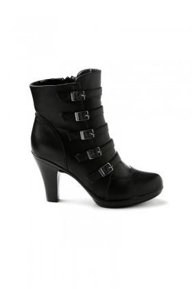 Danpe Siyah DNP-MP0212 Topuklu Bayan Bot