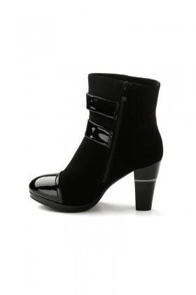 Danpe Siyah DNP-2105-3 Topuklu Bayan Bot