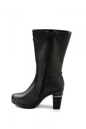 Danpe Siyah DNP-60052-C4 Topuklu Bayan Çizme