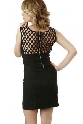 Fashion Siyah 201307 Mesh Bodycon Bayan Elbise