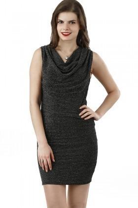 Fashion Antrasit 201320 Cowl Neck Bayan Elbise