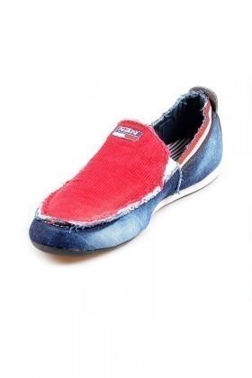 NBN Mavi-Kırmızı NBN-80 Erkek Ayakkabı