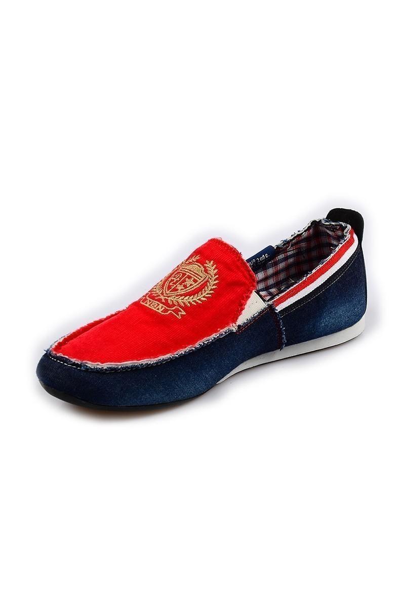 NBN Mavi-Kırmızı NBN-80-NAKIS Erkek Ayakkabı