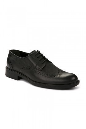 Pandew Siyah RMR-301 Hakiki Deri Erkek Klasik Ayakkabı