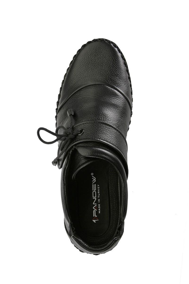 Pandew Siyah PNDW-5020 Hakiki Deri Erkek Çarık