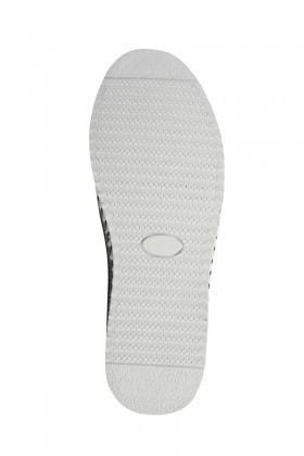 Pandew Beyaz-Siyah PNDW-5010 Hakiki Deri Erkek Çarık