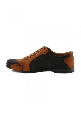 Pandew Lacivert-Taba PNDW-155 Hakiki Deri Erkek Ayakkabı
