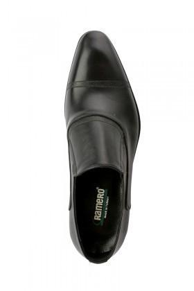 Pandew Siyah RMR-300 Hakiki Deri Erkek Klasik Ayakkabı