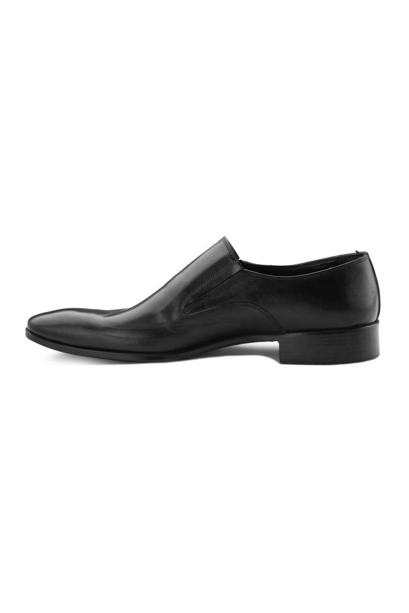 Pandew Siyah RMR-135 Hakiki Deri Erkek Klasik Ayakkabı