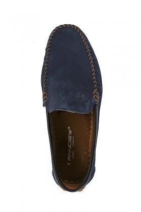 Pandew Lacivert PNDW-FR-SUET Hakiki Deri Erkek Ayakkabı