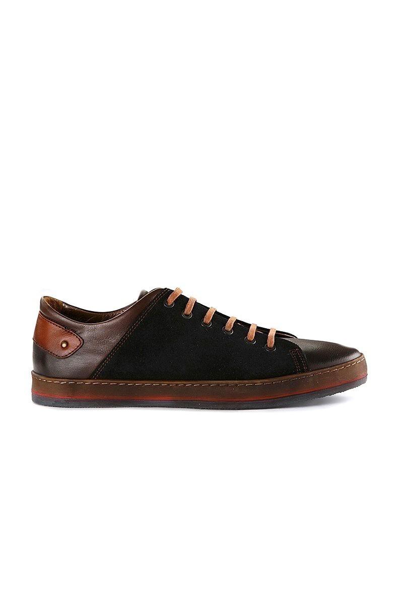 Pandew Lacivert-Kahve PNDW-1440 Hakiki Deri Erkek Ayakkabı