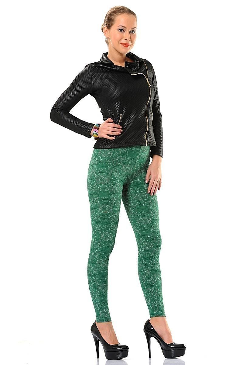Enimon Yeşil ENM-162 Bürümcük Jakar Bayan Tayt