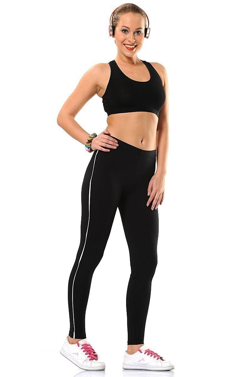 Enimon Siyah ENM-197 Sporcu Biyeli Bayan Tayt