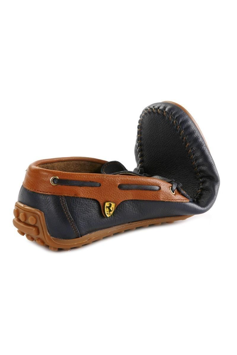 Pandew Lacivert-Taba PNDW-FR-BAG Hakiki Deri Erkek Ayakkabı