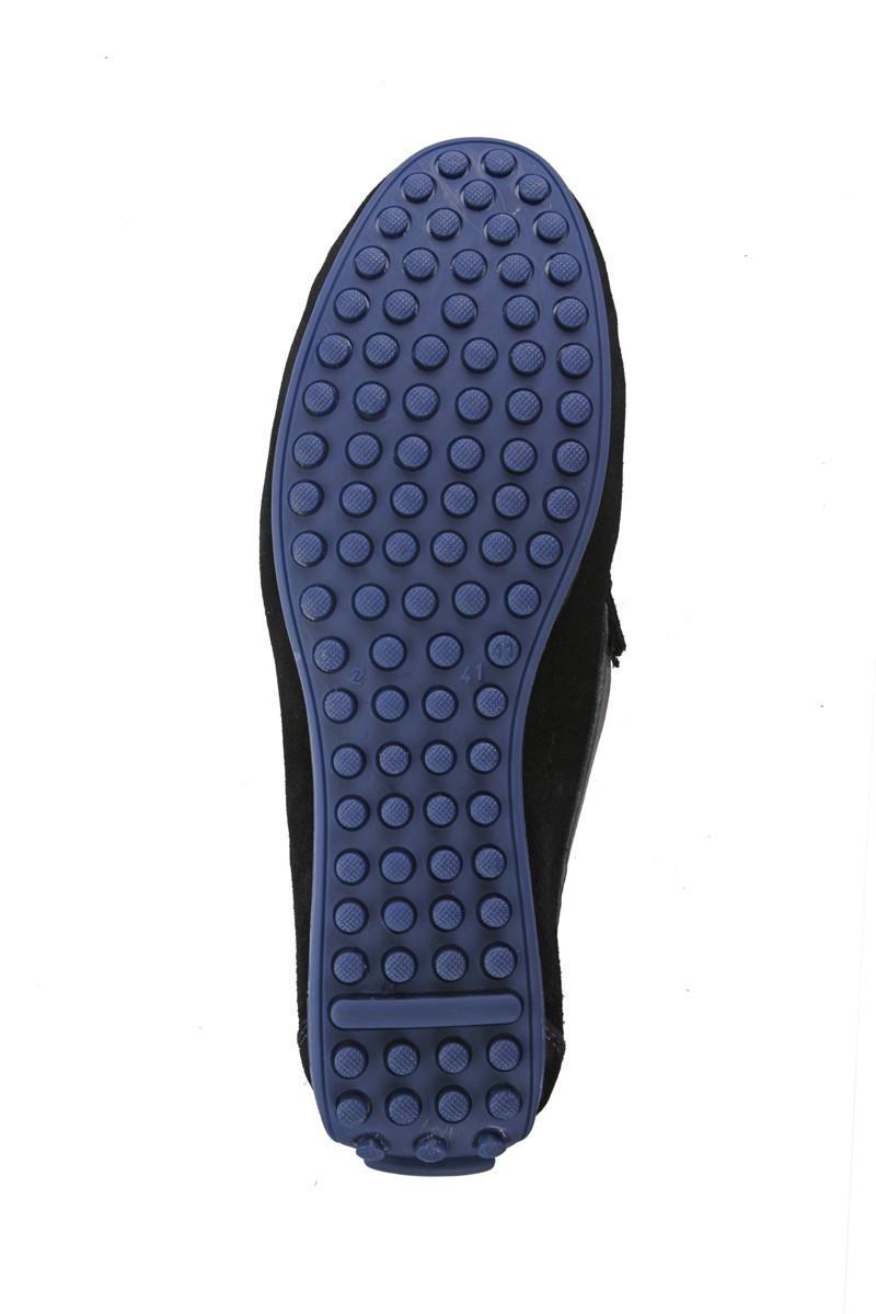 Pandew Siyah-Lacivert PNDW-FR-SUET Hakiki Deri Erkek Ayakkabı