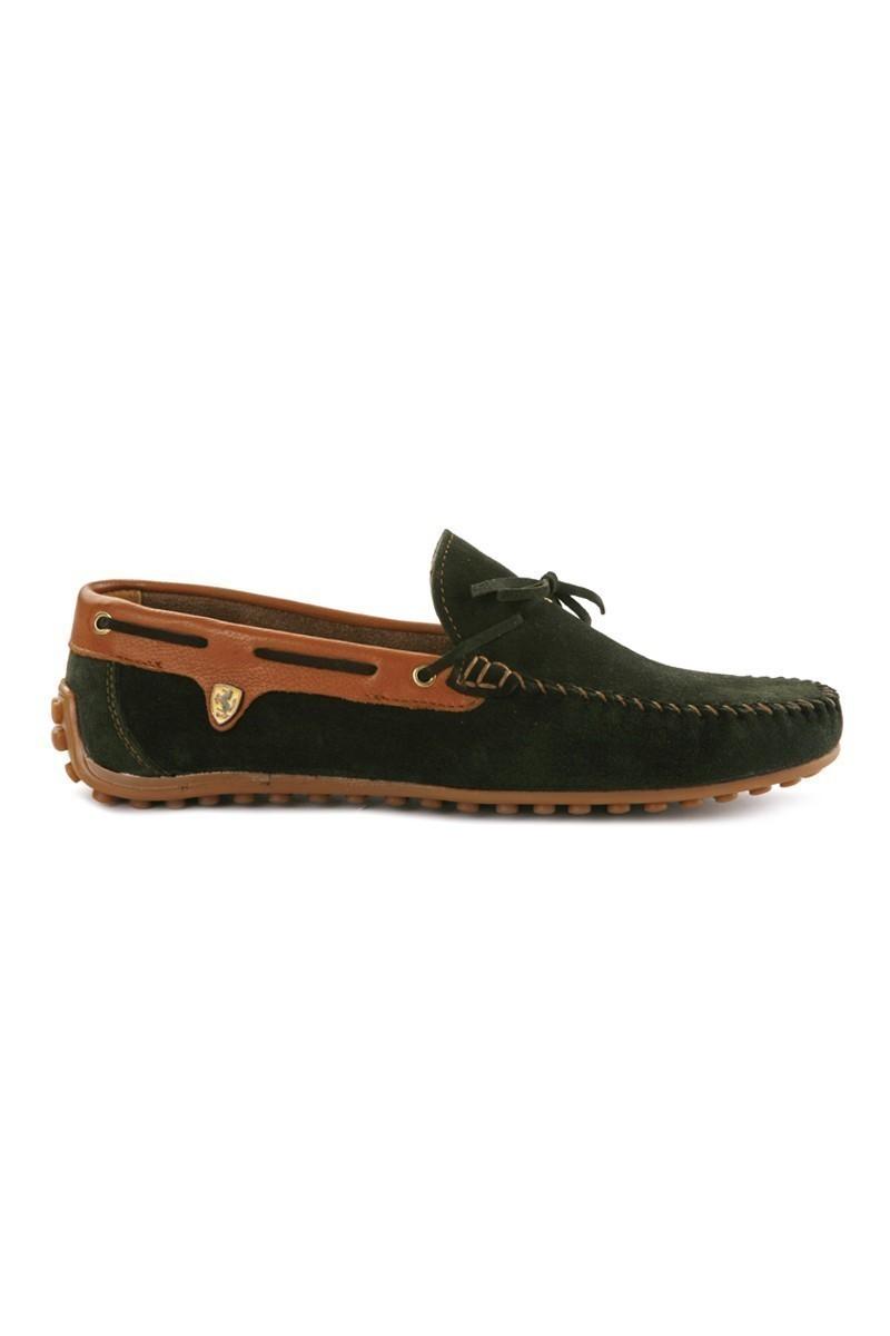 Pandew Yeşil-Taba PNDW-FR-SUET-BAG Hakiki Deri Erkek Ayakkabı