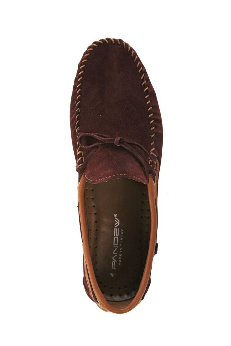 Pandew Bordo-Taba PNDW-FR-SUET-BAG Hakiki Deri Erkek Ayakkabı