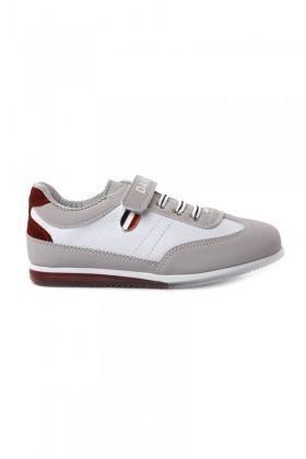 Danpe Beyaz-Gri DNP-SE-FLT-801 Çocuk Ayakkabı